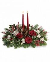 Christmas Wishes Centerpiece Fresh Arrangement
