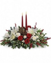 Christmas Wishes Centerpiece Fresh Christmas Centerpiece with candles
