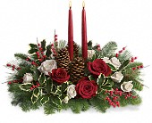 Christmas Wishes Centerpiece Holiday-Christmas in Waterbury, CT | GRAHAM'S FLORIST