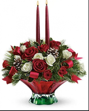 Christmas Wishes Christmas Centerpiece in Benton, KY | Woods Enchanted Florist