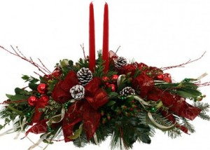 Christmas Wonder 2 candle centerpiece in Monument, CO | ENCHANTED FLORIST