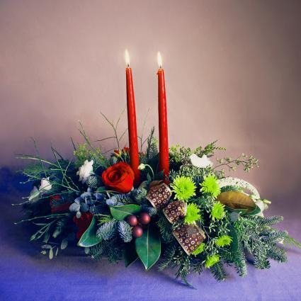 Holiday Woodland Centerpiece Centerpiece, long and low