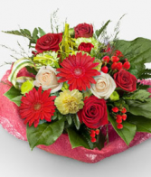 christmas wrap Bouquet of Flowers