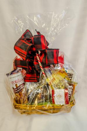 Christmas Wrapping Gift Basket
