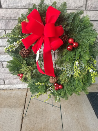 Christmas decorated Wreath