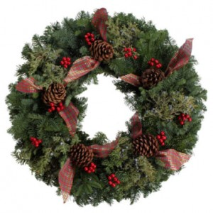 Berries and Bows Wreath in Delta, BC | FLOWERS BEAUTIFUL