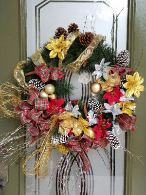Christmas Wreath ll Artificial- Available Fresh in Clearwater, FL | FLOWERAMA