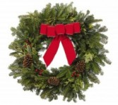 Christmas Wreath Evergreen Arrangment