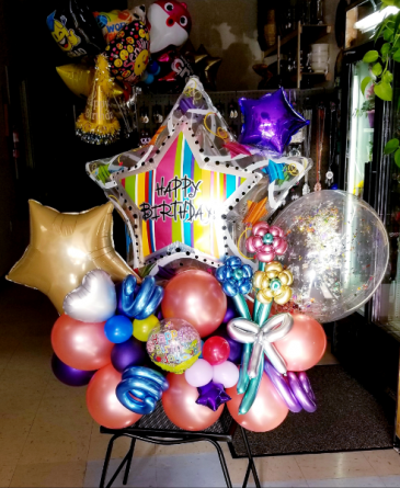Chrome Birthday Balloon Bouquet  24 HOUR NOTICE REQUIRED