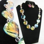 Chunky Crystal Pastel Choker Jewellery