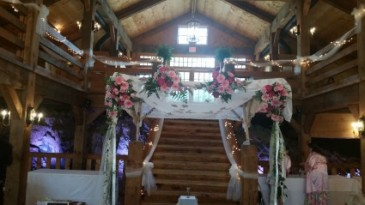 Chuppah Beautiful Setting for a indoor ceremony