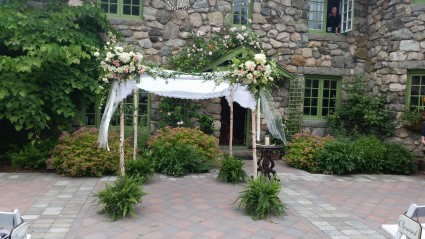 Chuppah Beautiful setting for a outside ceremony