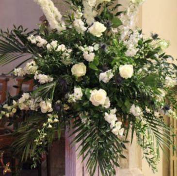 Church Flowers Whites & Creams  Ceremony Flowers