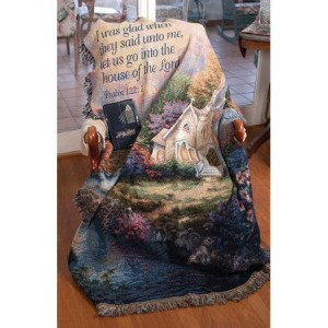 Church In The Country Tapestry Throw  Gift Religious