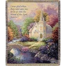 Church in the Country Tapestry Woven Throw