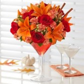 Cinnamon Martini  Fall Flowers