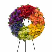 Circle Of Life Rainbow Wreath