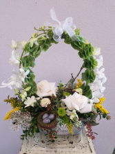 Circle of Love Floral Basket Arrangement