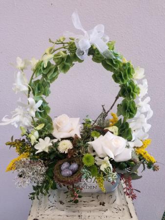 Circle of Love Floral Basket Arrangement