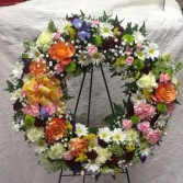 Circle of love Mixed floral wreath