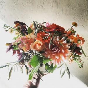 Citrus Autumnal Vase Arrangement