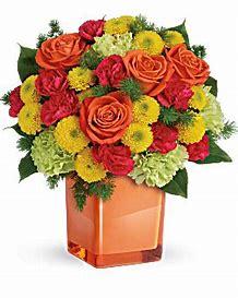 Citrus Bright Bouquet Fall Arrangement