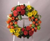 CITRUS CIRCLET FUNERAL WREATH