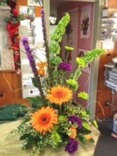 Citrus Gerber Daisy Exotic Arrangement