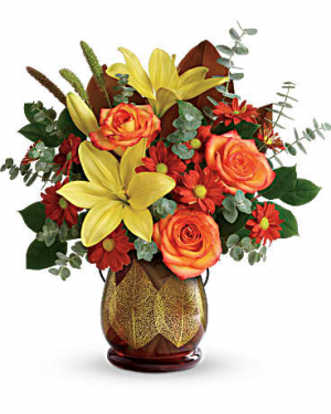 Citrus Harvest Bouquet Fall Fresh in New Palestine, IN | Rose Lady Floral Design