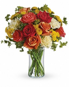 Citrus Kissed  mixed flowers