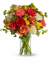 Citrus Kissed Smile Flower Arrangement