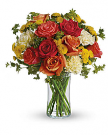 Citrus Mixed Rose Arrangement Roses
