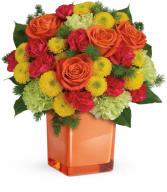 Citrus Smiles Bouquet All-Around Floral Arrangement