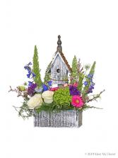 Clara's Cottage Wood box bird house