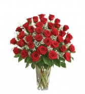 Classic 3 Dozen Rose Vase * Due to High Volume Rose Colors will Vary*