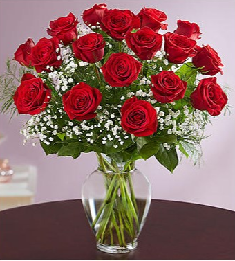 CLASSIC 18 RED ROSES Roses