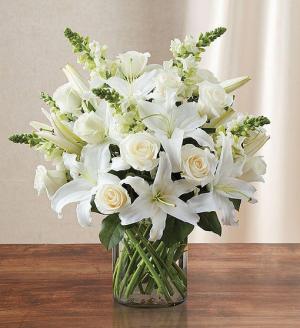 Classic All White Arrangement  in Falls Church, VA | Geno's Flowers