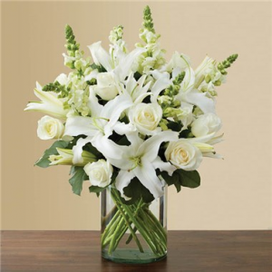 Classic All White Arrangement  in Brooklyn, NY | FLORAL FANTASY