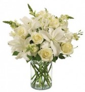 Classic All White Arrangement All around
