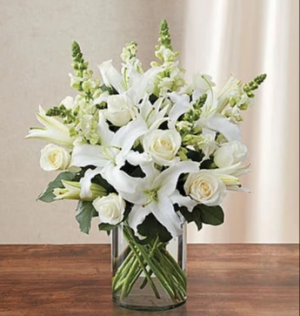 Classic All White Arrangement Arrangement in Orlando, FL | Artistic East Orlando Florist
