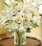 Classic All White  Vase Arrangement