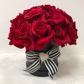 Classic beauty  Red Rose Cluster Arrangement