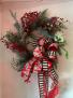 Classic berry Christmas wreath Front Door