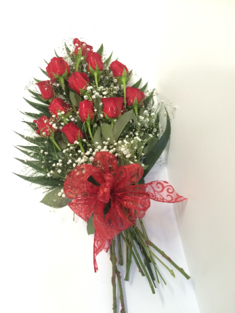 Classic Red Roses  Wrapped Bouquet