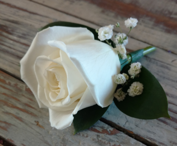Classic Boutonniere for Father Daughter Dance Colors come in white, red, pink and lavender and price includes the discount.