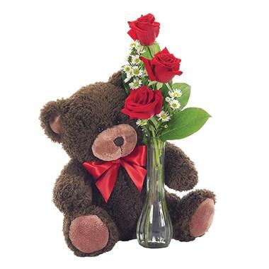 Classic Bud Vase Roses Floral Arrangement