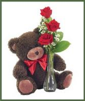 Classic Bud Vase with Bear Your Color Choice