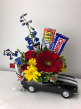 Classic Car Arrangement Fresh Cut Flowers