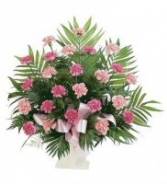 Classic Carnation Arrangement Funeral Basket