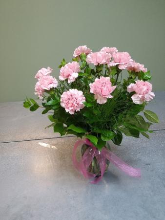 Classic Carnations Vase Arrangement